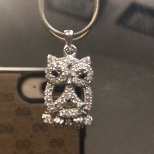 Jewelry - 🦉 Silver pendant only cubic zircon NWT